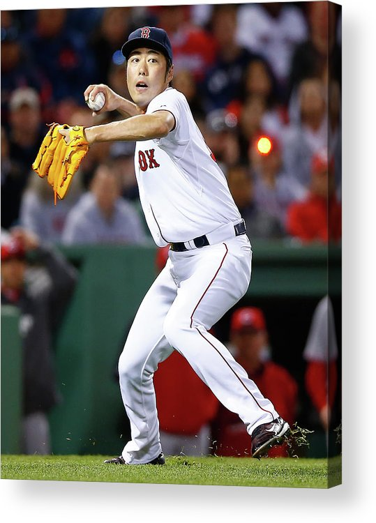 American League Baseball Acrylic Print featuring the photograph Cincinnati Reds V Boston Red Sox 7 by Jared Wickerham