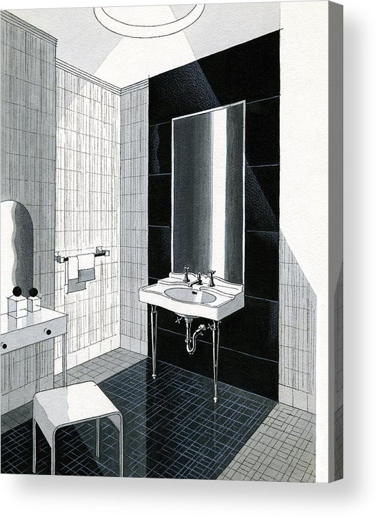 Bathroom Acrylic Print featuring the digital art A Bathroom For Kohler By Ely Jaques Kahn by Urban Weis