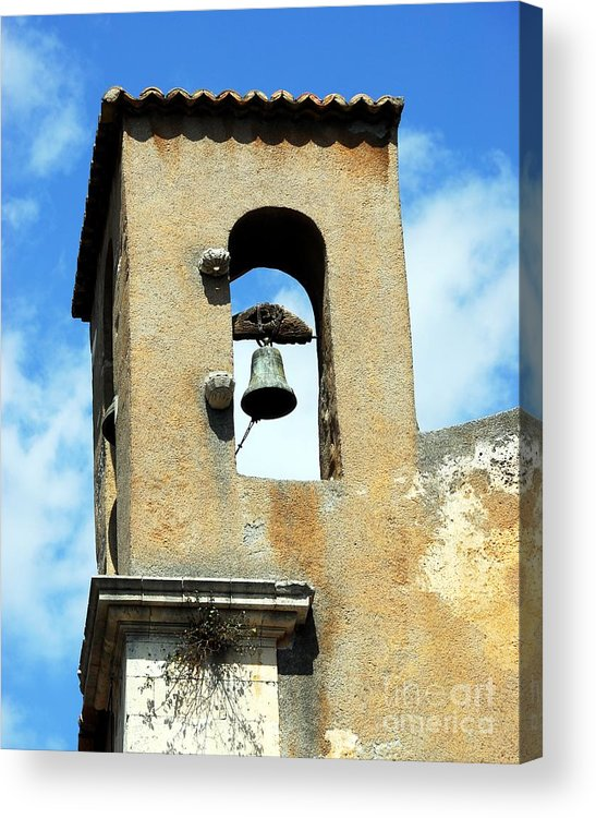 A Church Bell In The Sky Acrylic Print featuring the photograph A Church Bell In The Sky 3 by Mel Steinhauer