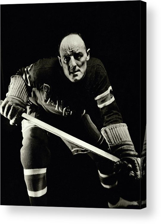 Entertainment Acrylic Print featuring the photograph A Portrait Of Ching Johnson Posing In An Ice by Anton Bruehl