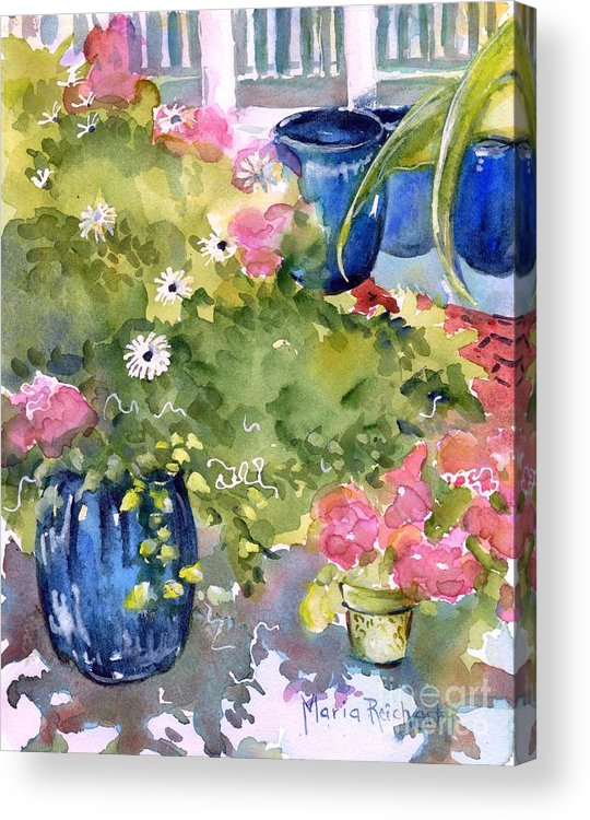Garden Acrylic Print featuring the painting A Reason To Smile by Maria Reichert