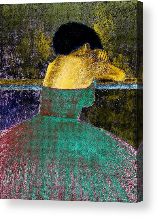 Impressionistic Acrylic Print featuring the digital art After The Dance by David Patterson
