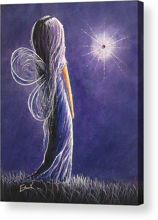 Fairies Acrylic Print featuring the painting Amethyst Fairy By Shawna Erback by Shawna Erback