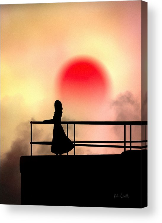 People Acrylic Print featuring the photograph And The Sun Also Rises by Bob Orsillo