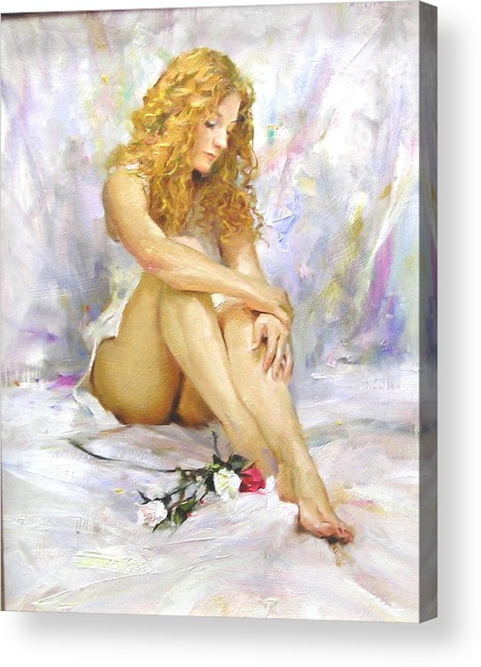 Figure Acrylic Print featuring the painting Brianna by Ron McDowell