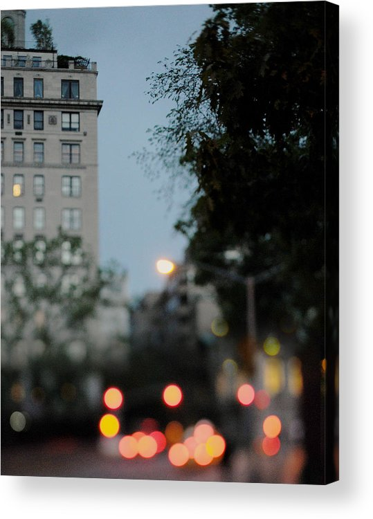 Central Park Acrylic Print featuring the photograph Central Park Exit by Chelsea Victoria