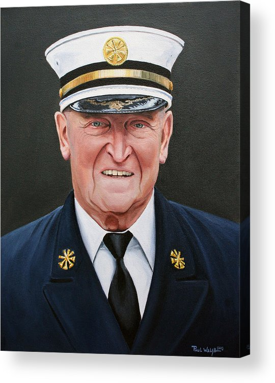 Chief Acrylic Print featuring the painting Chief Haber by Paul Walsh