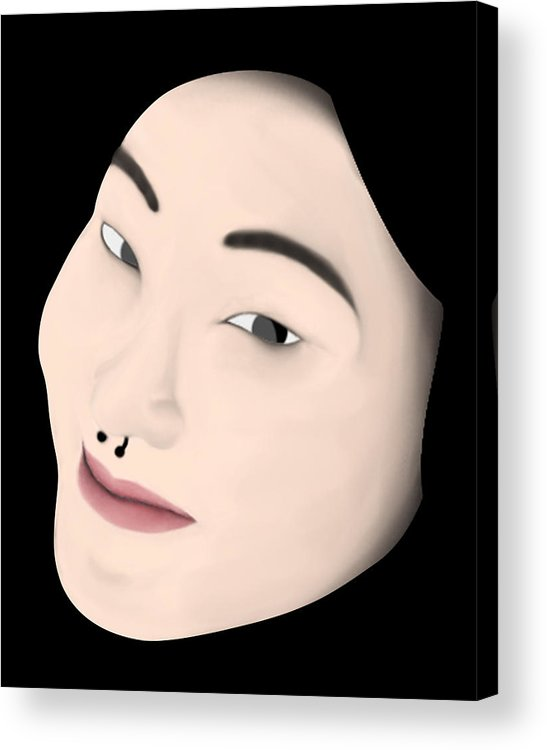Girl Acrylic Print featuring the digital art Chinese Girl by Sara Ponte