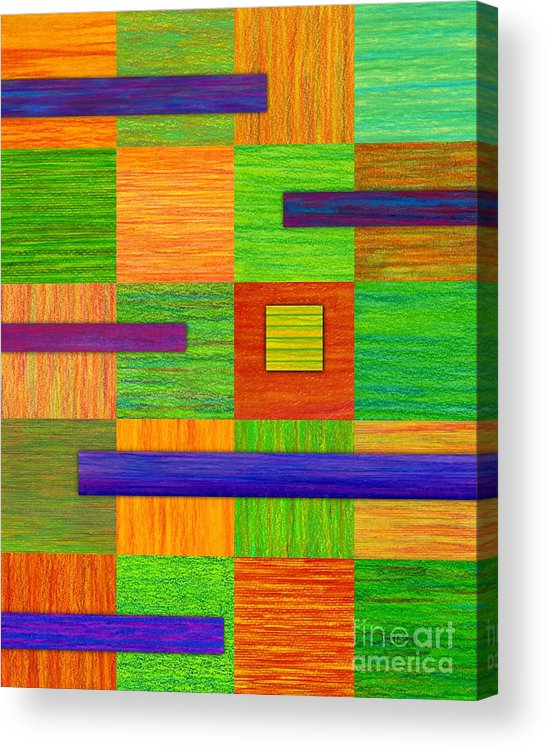 Colored Pencil Acrylic Print featuring the painting Coexist by David K Small