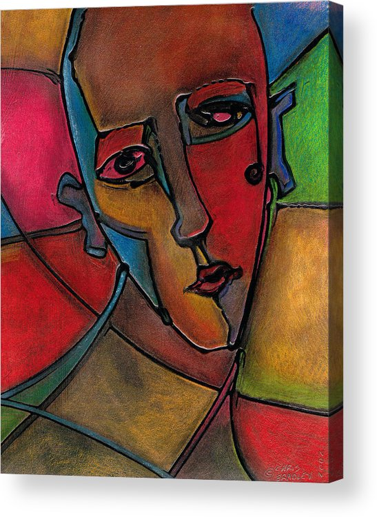 Colorful Abstract Face Acrylic Print