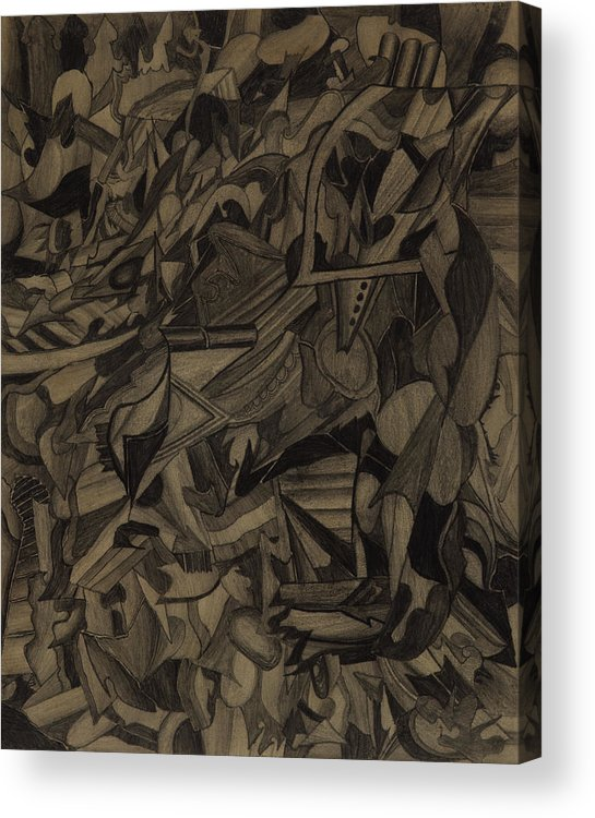 Drawing Acrylic Print featuring the drawing Deliberation by Peter Shor