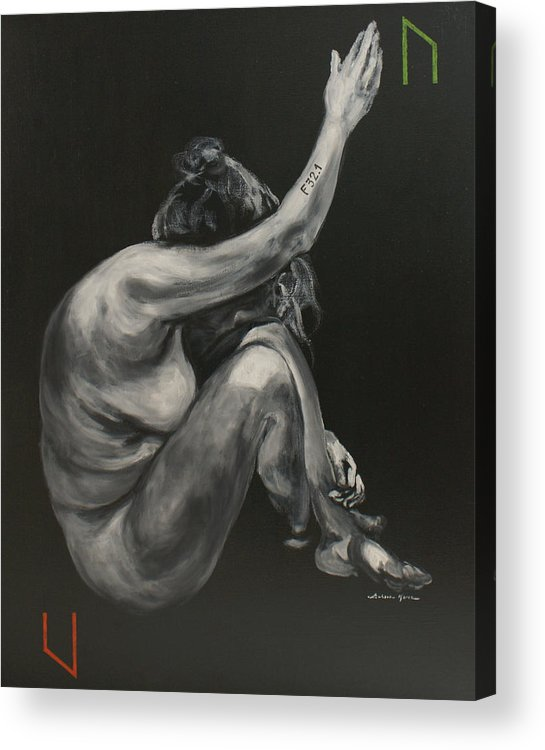 Depression Acrylic Print featuring the painting Depression- Uruz by Luke Karcz