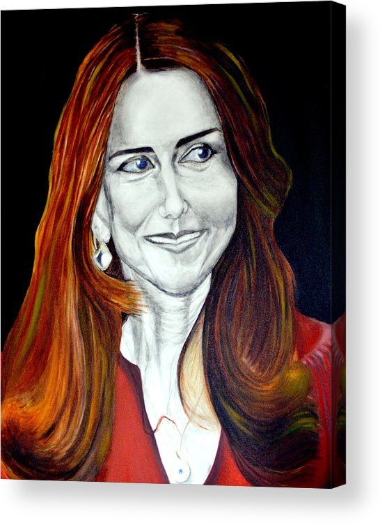 Duchess Acrylic Print featuring the painting Duchess Of Cambridge by Prasenjit Dhar