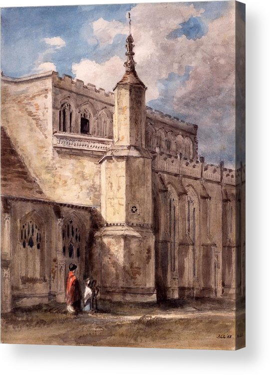 East Bergholt Acrylic Print featuring the drawing East Bergholt Church, Northside by John Constable