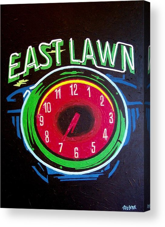 Sacramento Acrylic Print featuring the painting East Lawn by Paul Guyer