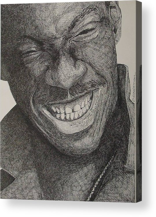 Portraiture Acrylic Print featuring the drawing Eddie by Denis Gloudeman