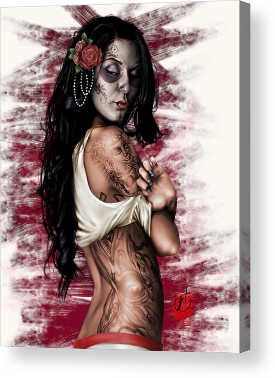 Pete Acrylic Print featuring the painting Esperanza Viva by Pete Tapang