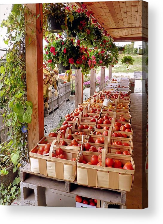 Farmstand Acrylic Print featuring the photograph Farmstand by Janice Drew