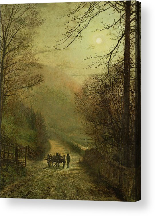Grimshaw Acrylic Print featuring the painting Forge Valley, Scarborough by John Atkinson Grimshaw