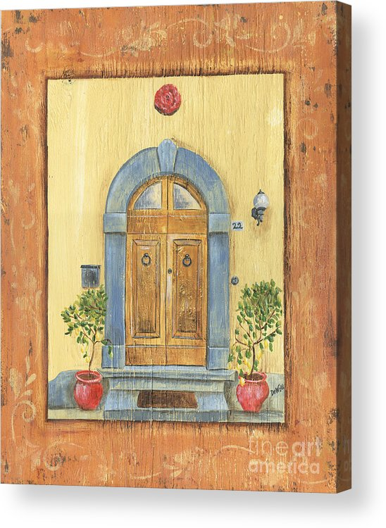Front Door Acrylic Print featuring the painting Front Door 1 by Debbie DeWitt