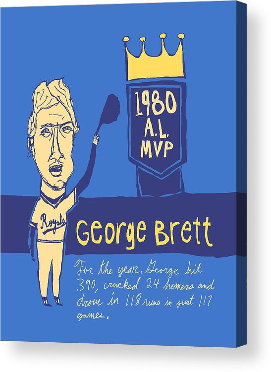 George Brett Acrylic Print featuring the painting George Brett Kc Royals by Jay Perkins