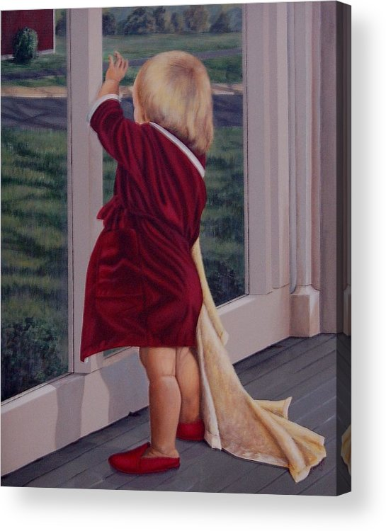 Figure Acrylic Print featuring the painting Good-by by AnnaJo Vahle