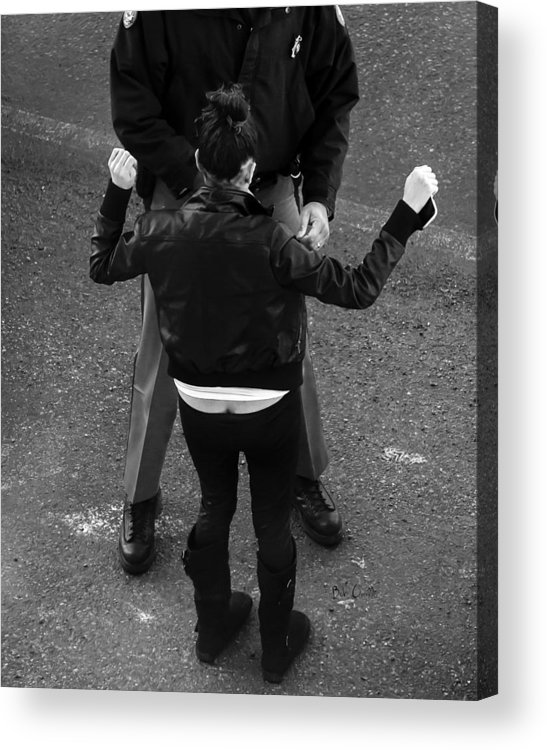 Police Acrylic Print featuring the photograph Hands Up by Bob Orsillo