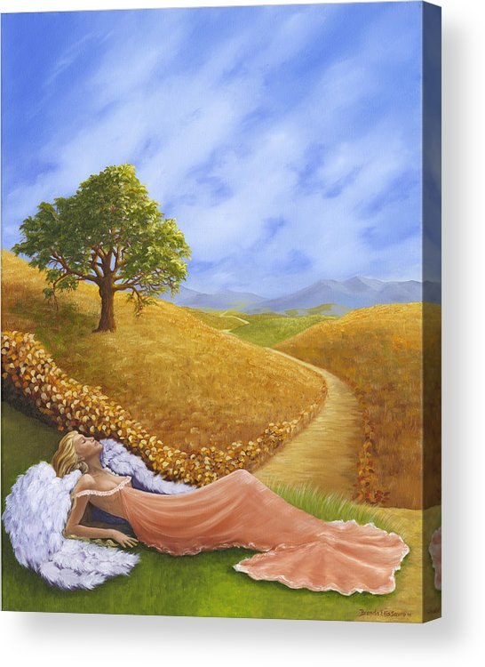 Angel Acrylic Print featuring the painting Heaven On Earth by Brenda Ellis Sauro
