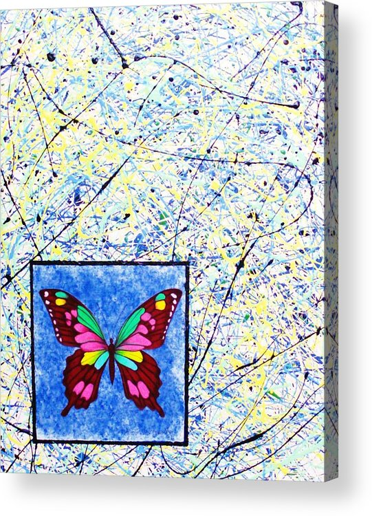 Abstract Acrylic Print featuring the painting Imperfect I by Micah Guenther
