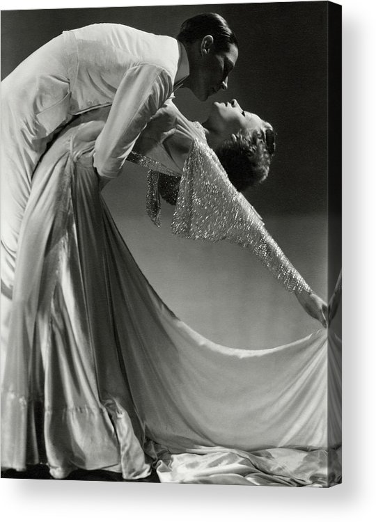 Dance Acrylic Print featuring the photograph Jack Holland And June Hart Dancing by Horst P. Horst