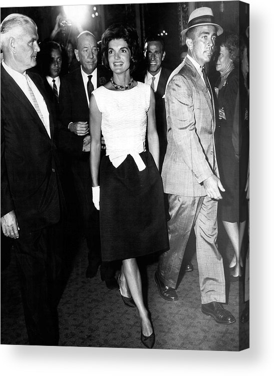 Retro Acrylic Print featuring the photograph Jacqueline Kennedy Doesn't Need A Red Carpet by Retro Images Archive