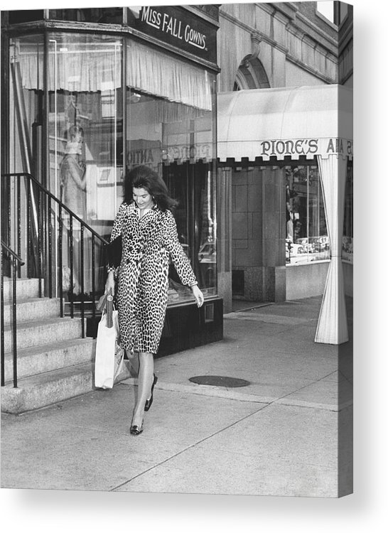 Retro Acrylic Print featuring the photograph Jacqueline Kennedy In Leopard Print by Retro Images Archive