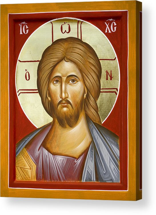 Jesus Christ Acrylic Print featuring the painting Jesus Christ by Julia Bridget Hayes