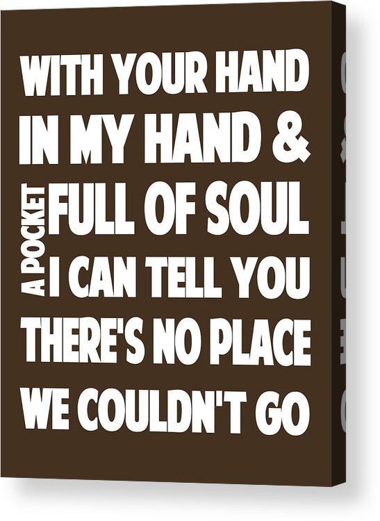 Justin Timberlake Mirrors Lyrics Acrylic Print By Redlime Art
