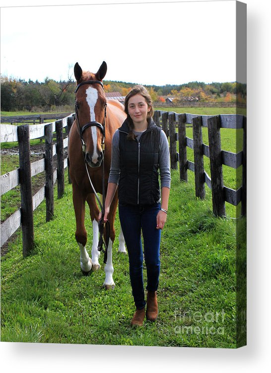 Acrylic Print featuring the photograph Katherine Pal 9 by Life With Horses