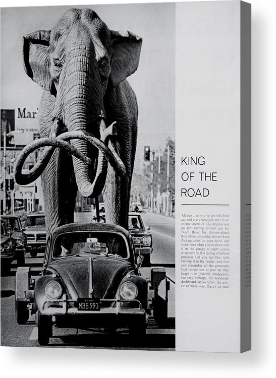 Volkswagen Acrylic Print featuring the photograph King Of The Road by Benjamin Yeager