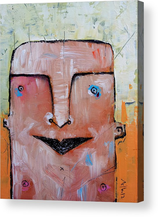 Portrait Acrylic Print featuring the painting Life As Human No. 37 The Lost Tribe by Mark M Mellon