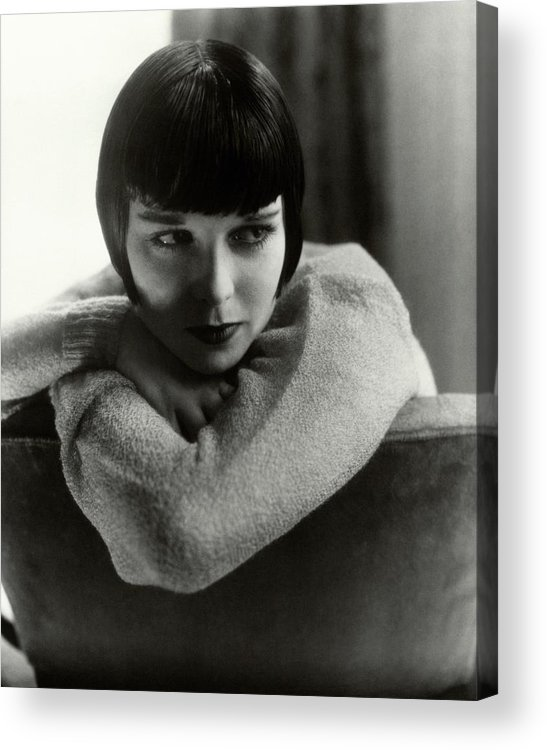 Actress Acrylic Print featuring the photograph Louise Brooks On A Chair by Edward Steichen