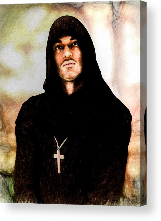 Priest Acrylic Print featuring the painting Man Of Peace by Bob Orsillo