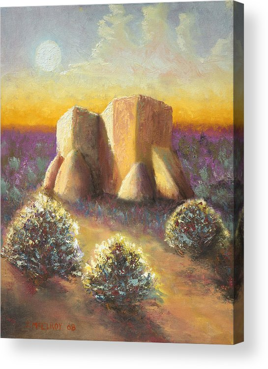 Landscape Acrylic Print featuring the painting Mission Imagined by Jerry McElroy