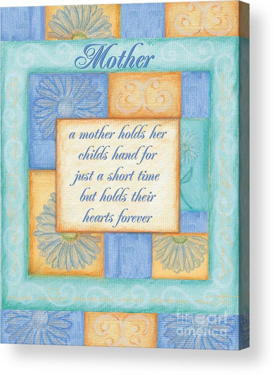 Spa Acrylic Print featuring the painting Mother's Day Spa Card by Debbie DeWitt