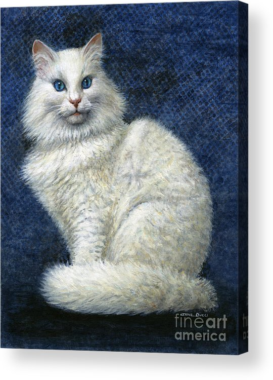 Cat Acrylic Print featuring the painting Mrs. Moon by Jane Bucci