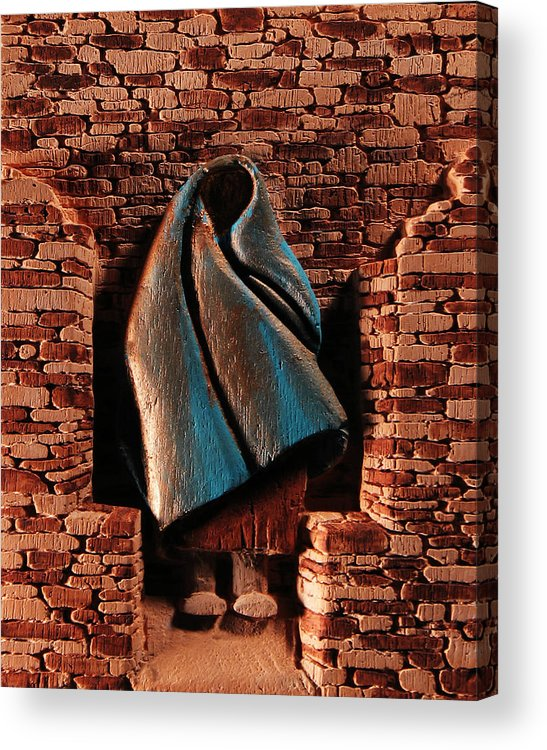 Relief Acrylic Print featuring the relief My Spirit Lingers by Carl Bandy