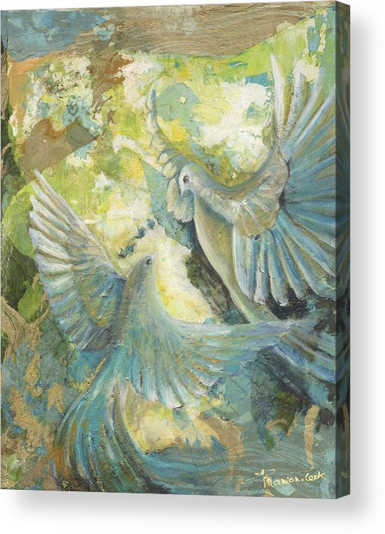 Abstract Acrylic Print featuring the painting Mystery by Valerie Graniou-Cook