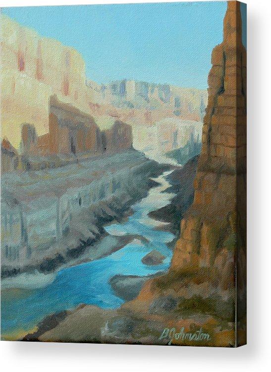 Nankoweap Acrylic Print featuring the painting Nankoweap Canyon by Beth Johnston