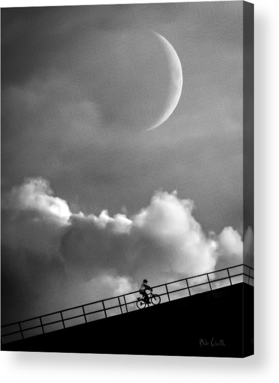 Crescent Moon Acrylic Print featuring the photograph No Turning Back by Bob Orsillo