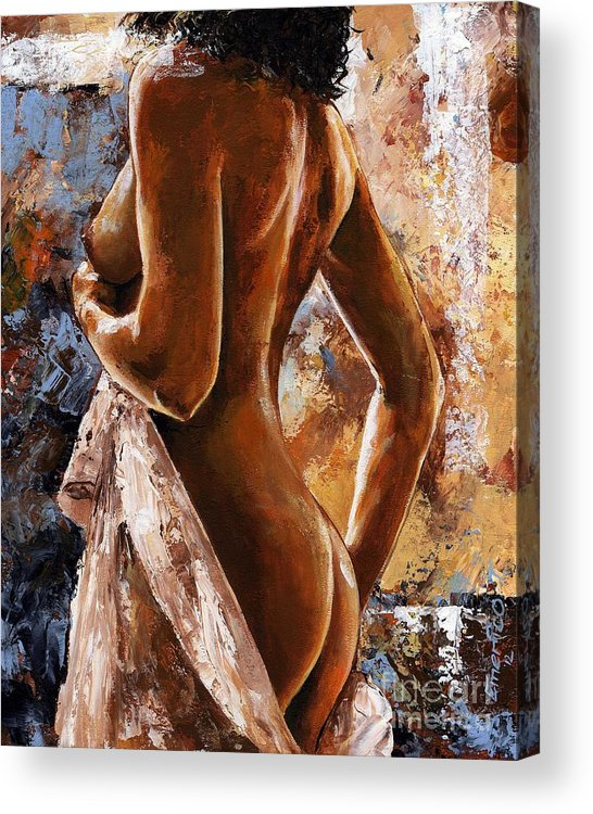 Nude Acrylic Print featuring the painting Nude 07 by Emerico Imre Toth