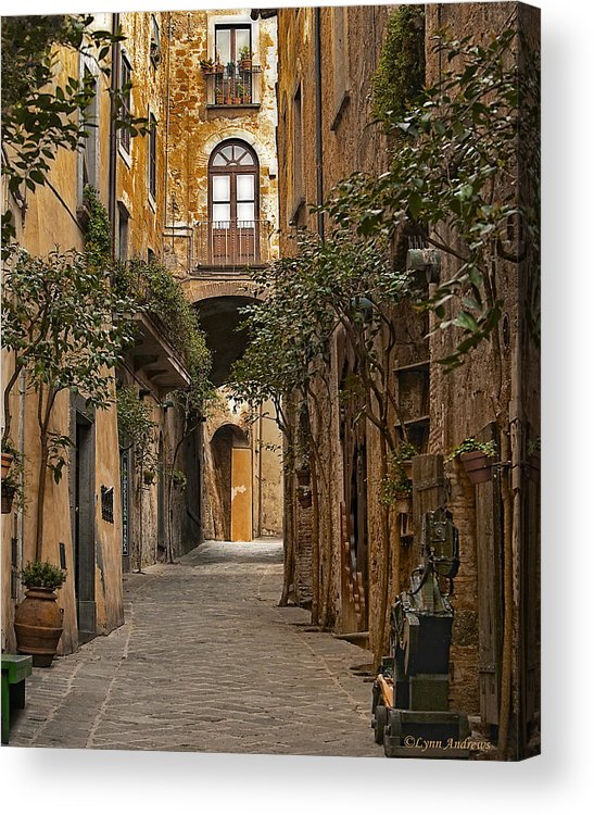 Orvieto Acrylic Print featuring the photograph Orvieto Side Street by Lynn Andrews