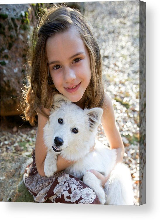 Angel Smiling Acrylic Print featuring the photograph Pals by Barbie Baio