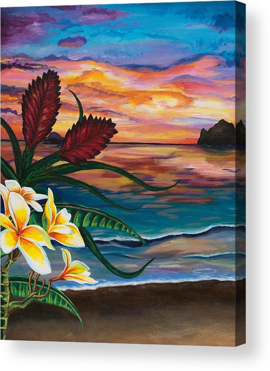 Emily Brantley Acrylic Print featuring the painting Paradise by Emily Brantley